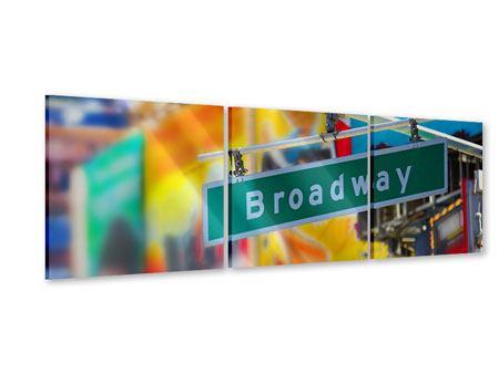 Panorama Acrylglasbild 3-teilig Broadway