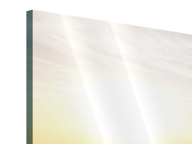 Panorama Acrylglasbild 3-teilig Das gestrandete Boot