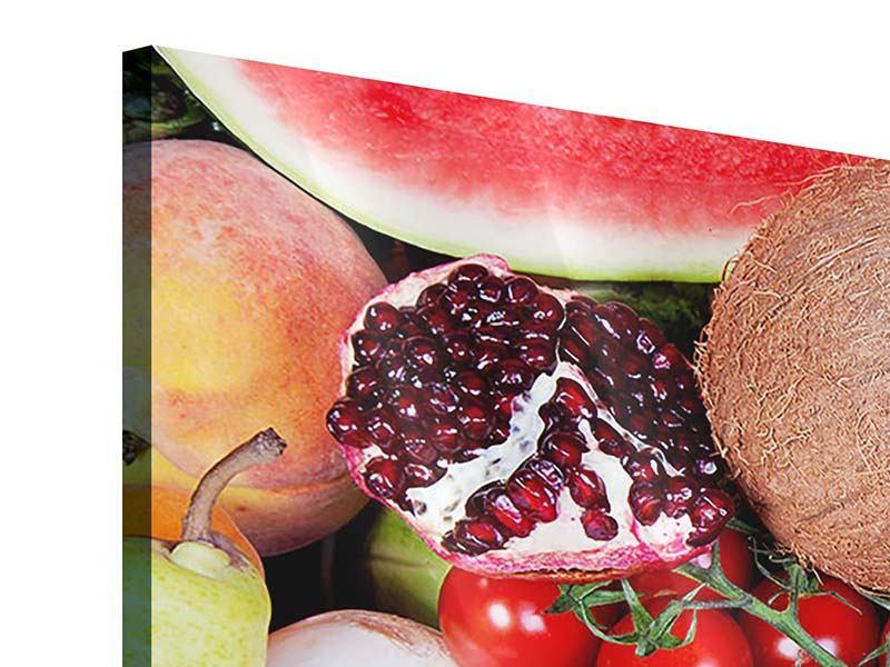 Panorama Acrylglasbild 3-teilig Frisches Obst