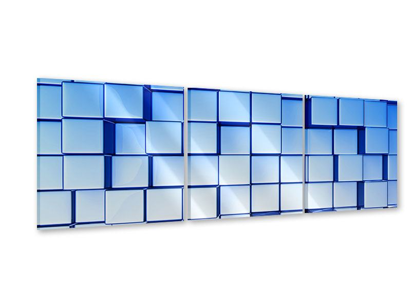 Panorama Acrylglasbild 3-teilig 3D-Symetrie