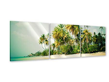 Panorama Acrylglasbild 3-teilig Tobago Cays