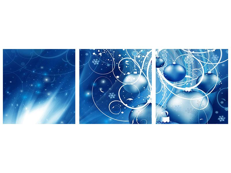 Panorama Acrylglasbild 3-teilig Shingle Bells