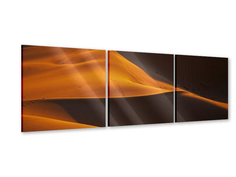 Panorama Acrylglasbild 3-teilig Wüstensand