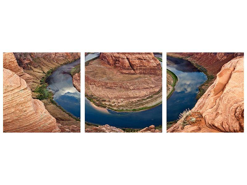 Panorama Acrylglasbild 3-teilig Horseshoe Bend