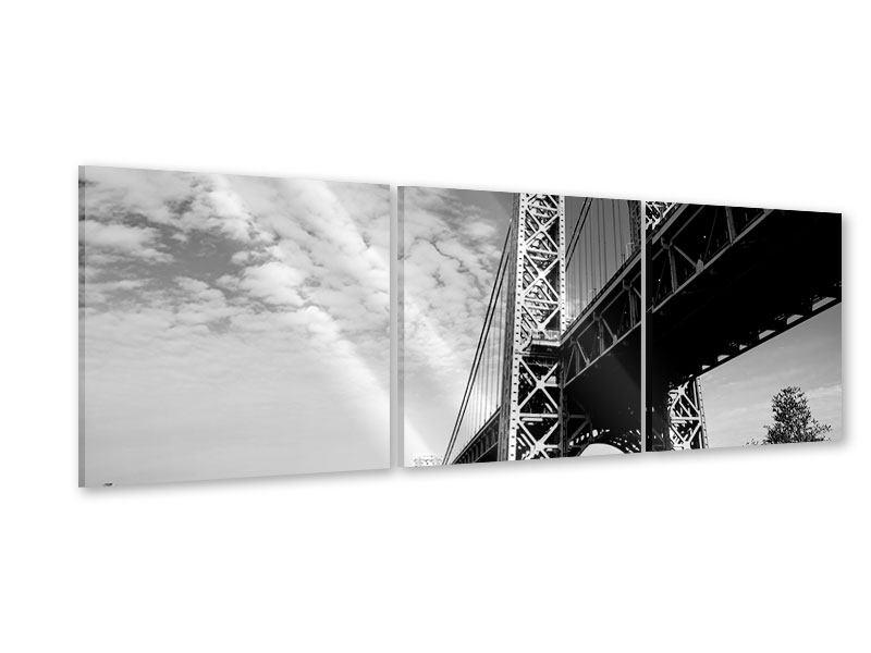 Panorama Acrylglasbild 3-teilig Georg-Washington-Bridge