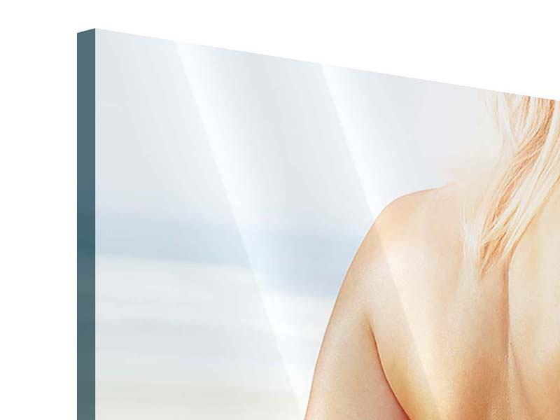 Panorama Acrylglasbild 3-teilig Rücken einer Schönheit