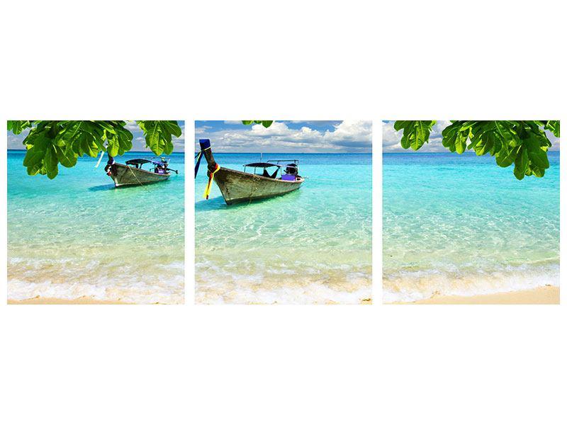 Panorama Acrylglasbild 3-teilig Ein Blick auf das Meer