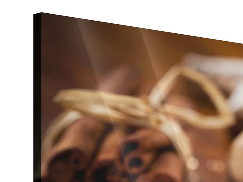 Panorama Acrylglasbild 3-teilig Weihnachtsgewürze