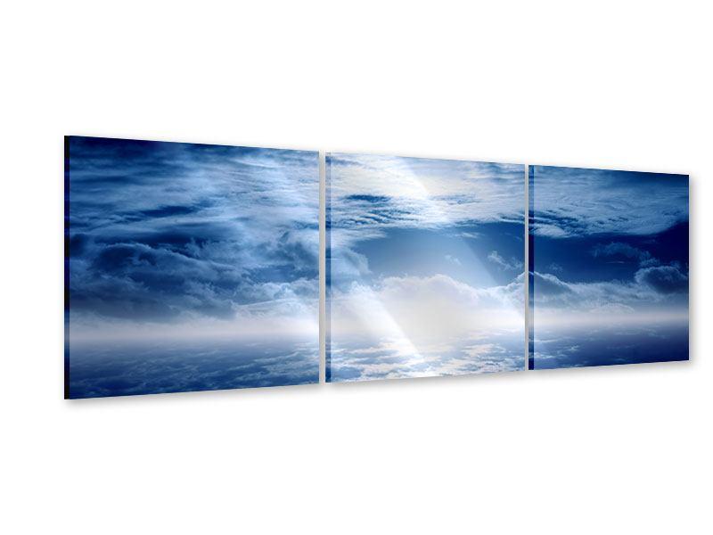 Panorama Acrylglasbild 3-teilig Mystischer Himmel