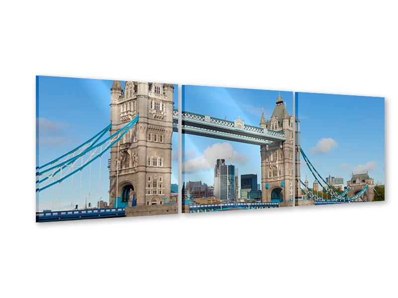 Panorama Acrylglasbild 3-teilig Die Tower Bridge