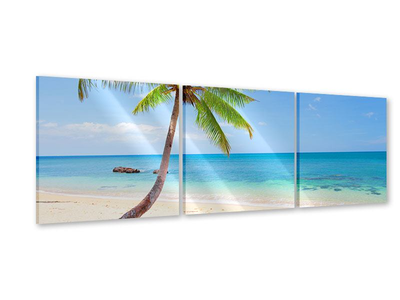 Panorama Acrylglasbild 3-teilig Die eigene Insel