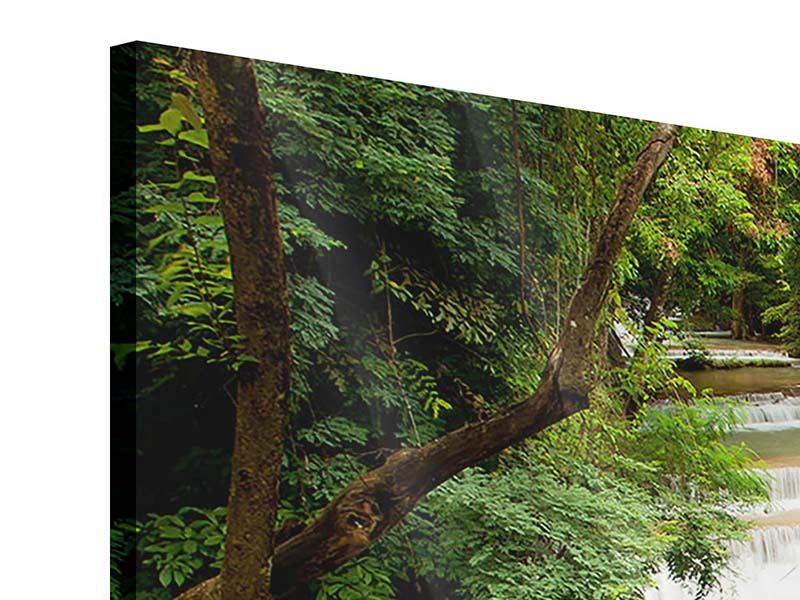 Panorama Acrylglasbild 3-teilig Im Baumhaus