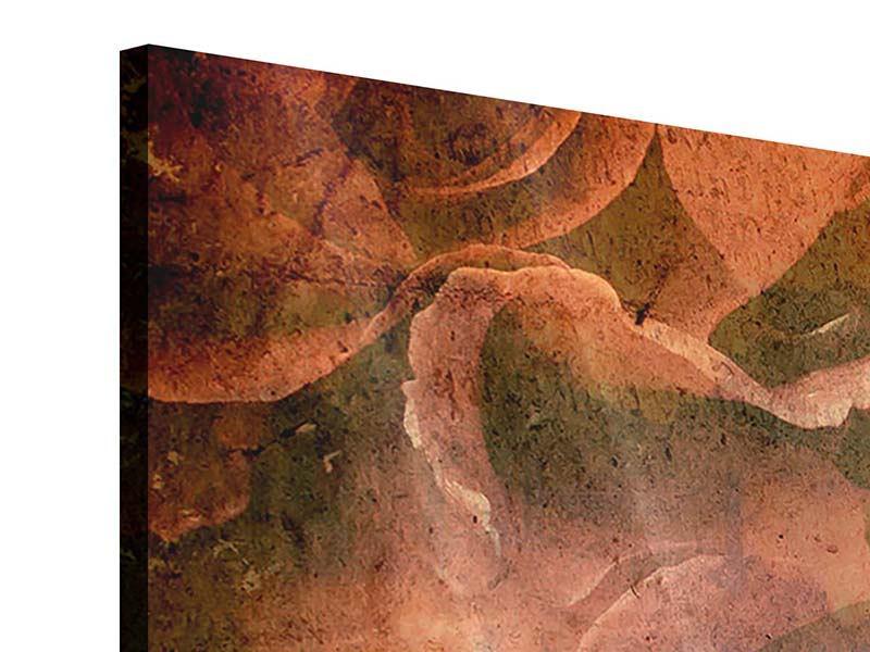 Panorama Acrylglasbild 3-teilig Rosenbukett