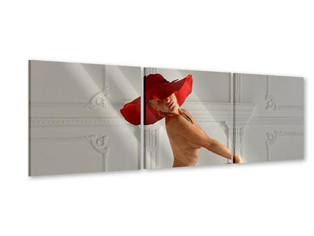 Panorama Acrylglasbild 3-teilig Nude-Diva