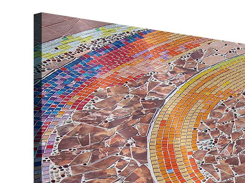 Panorama Acrylglasbild 3-teilig Mosaik
