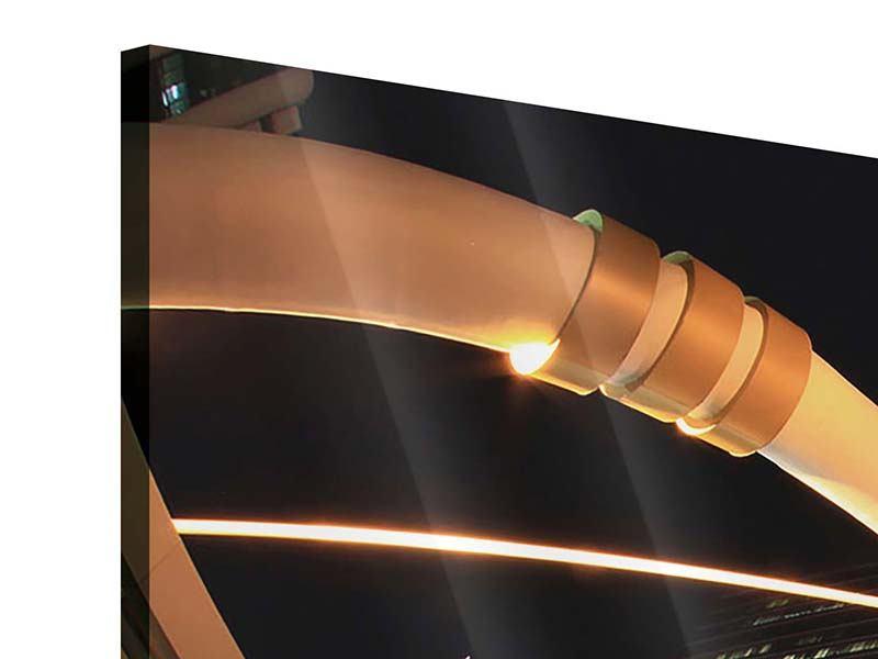 Panorama Acrylglasbild 3-teilig Avantgardistische Brücke