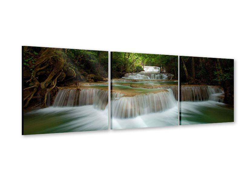 Panorama Acrylglasbild 3-teilig Die 7 Stufen