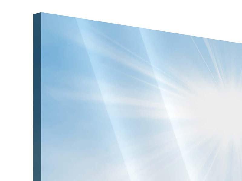Panorama Acrylglasbild 3-teilig Wintermärchen