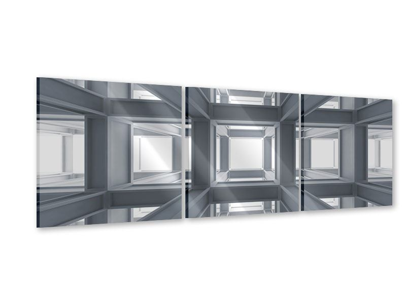 Panorama Acrylglasbild 3-teilig Räume