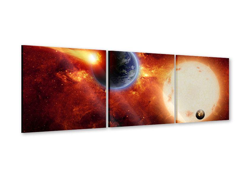 Panorama Acrylglasbild 3-teilig Der Kosmos