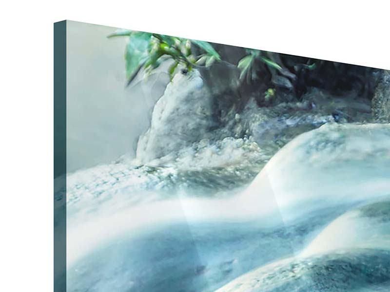 Panorama Acrylglasbild 3-teilig Das Fliessende Wasser