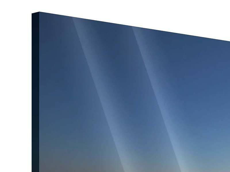 Panorama Acrylglasbild 3-teilig Privatstrand