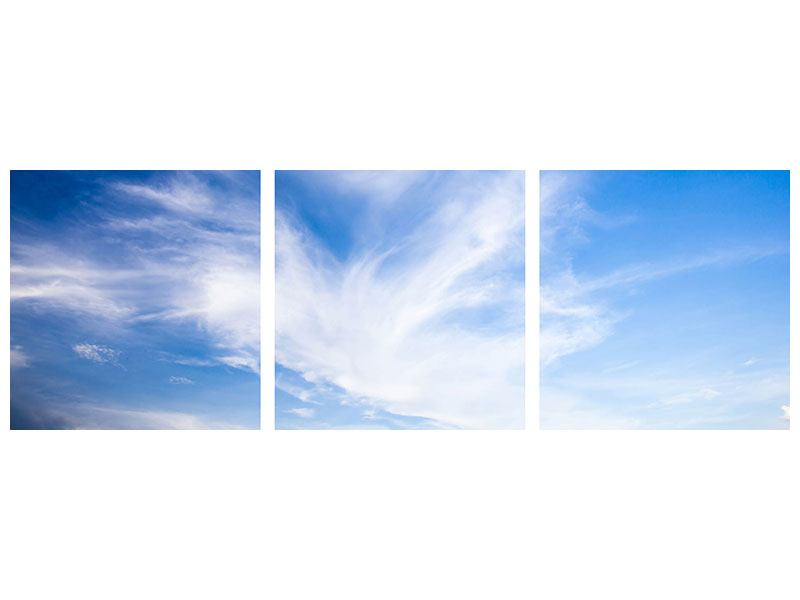 Panorama Acrylglasbild 3-teilig Schleierwolken
