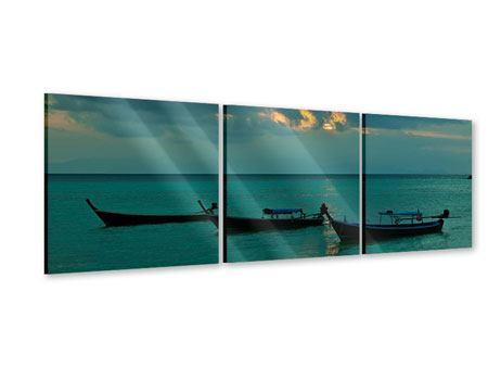 Panorama Acrylglasbild 3-teilig Ozean