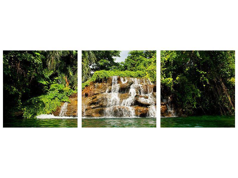 Panorama Acrylglasbild 3-teilig Lagune