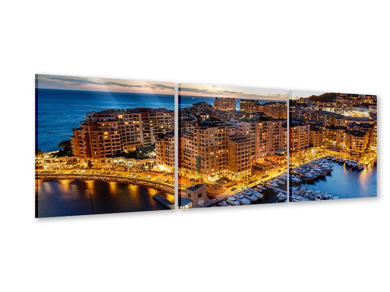 Panorama Acrylglasbild 3-teilig Monaco