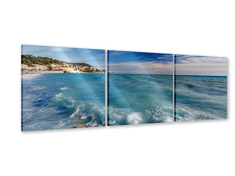Panorama Acrylglasbild 3-teilig Cote D`Azur