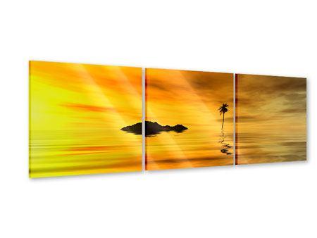 Panorama Acrylglasbild 3-teilig Ab auf die Insel