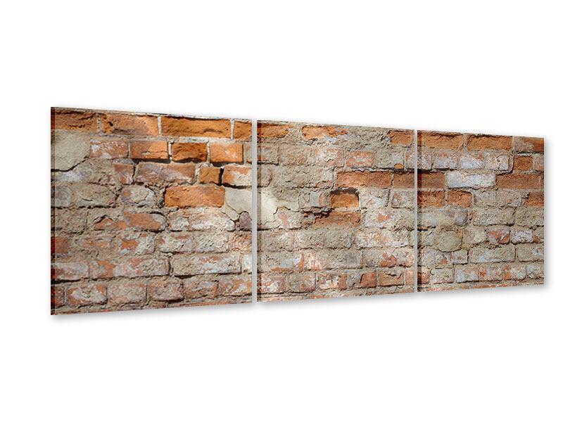 Panorama Acrylglasbild 3-teilig Alte Klagemauer