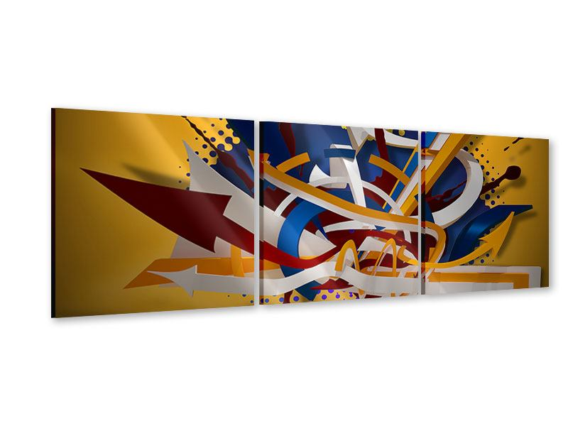 Panorama Acrylglasbild 3-teilig Graffiti Art