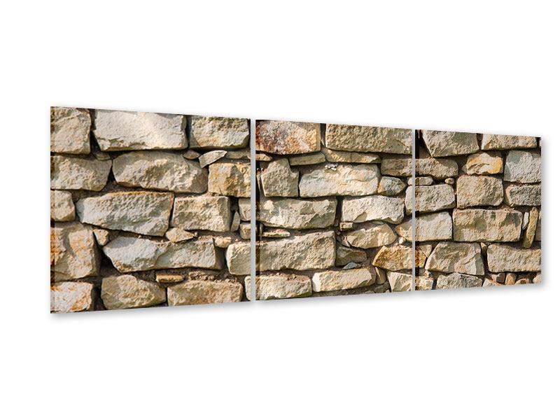Panorama Acrylglasbild 3-teilig Natursteine