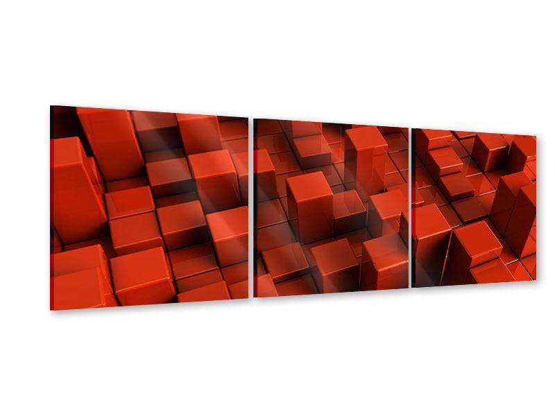 Panorama Acrylglasbild 3-teilig 3D-Rechtkant