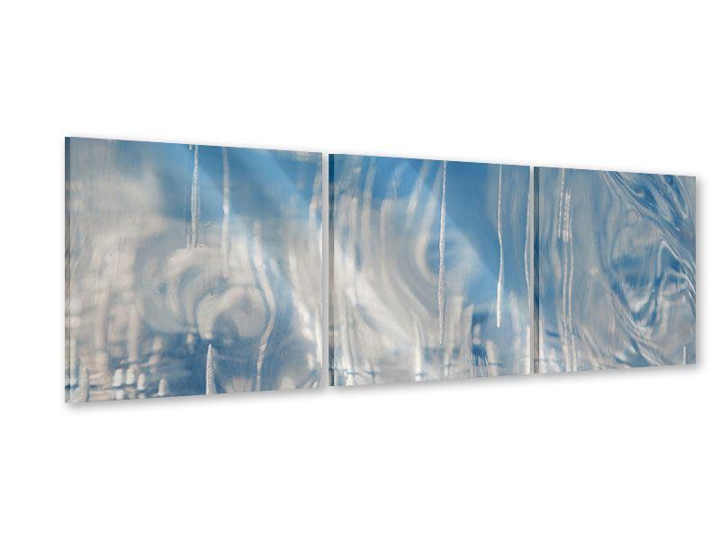 Panorama Acrylglasbild 3-teilig Das Eis des Baikalsees