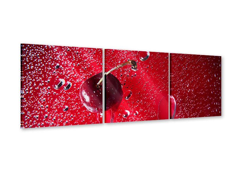 Panorama Acrylglasbild 3-teilig Die Kirsche