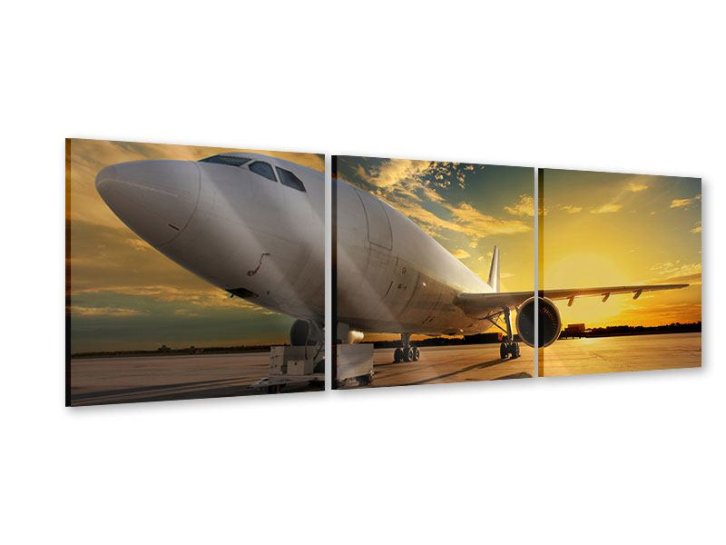 Panorama Acrylglasbild 3-teilig Jet