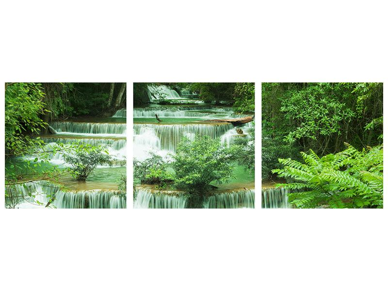 Panorama Acrylglasbild 3-teilig 7 Stufen in Thailand