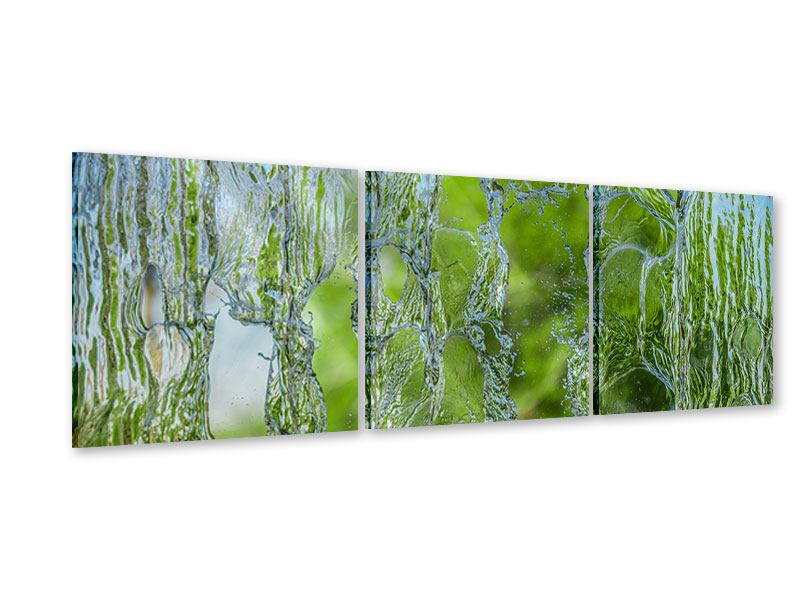 Panorama Acrylglasbild 3-teilig Hinter dem Wasserfall
