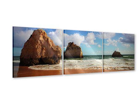 Panorama Acrylglasbild 3-teilig Strandgedanken