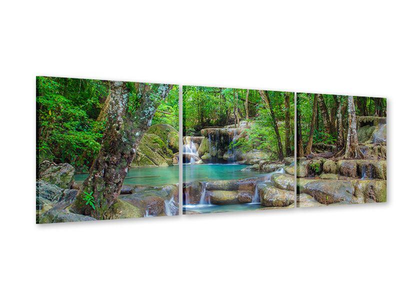 Panorama Acrylglasbild 3-teilig Wasserspektakel