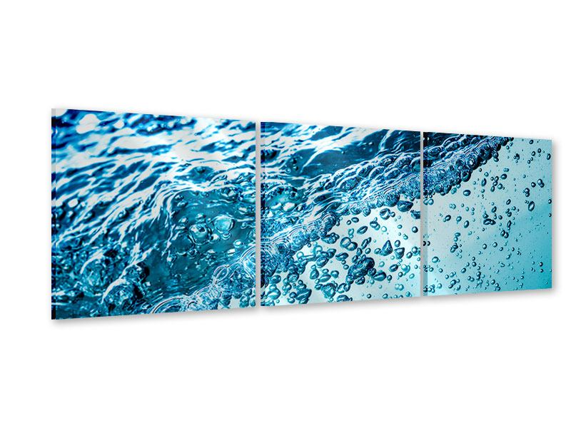 Panorama Acrylglasbild 3-teilig Wasser in Bewegung