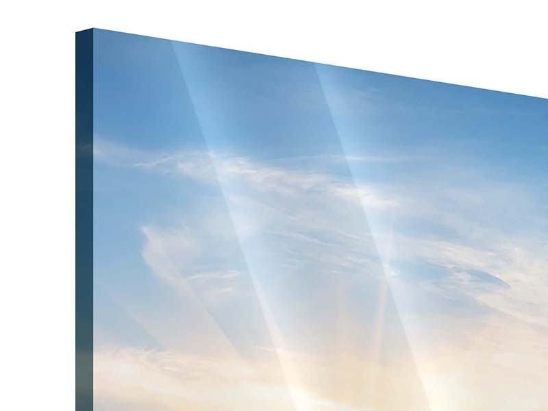 Panorama Acrylglasbild 3-teilig Sonnenaufgang im Park