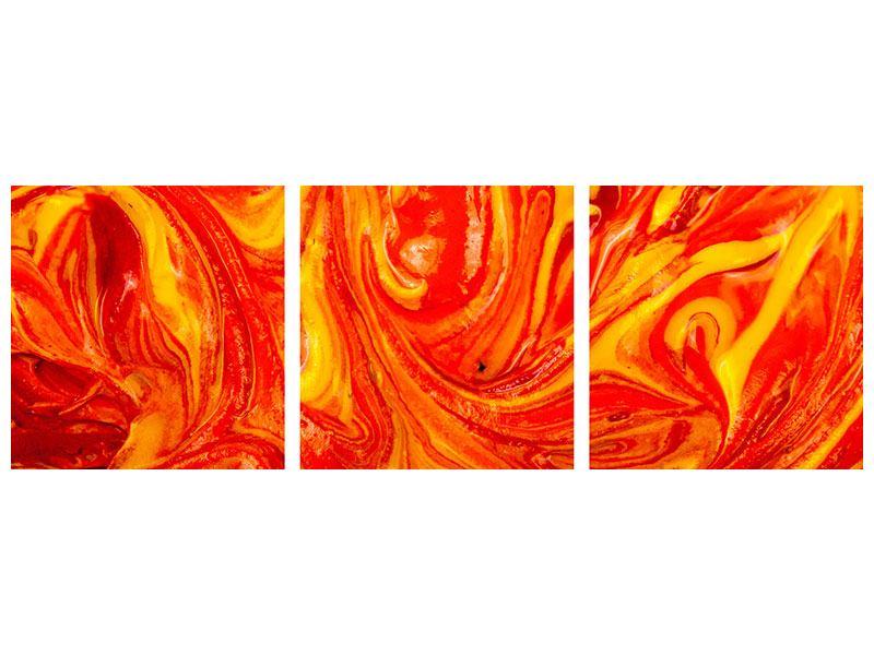 Panorama Acrylglasbild 3-teilig Wandgemälde