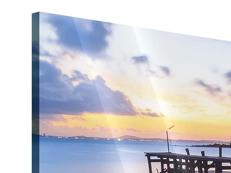 Panorama Acrylglasbild 3-teilig Inseltraum