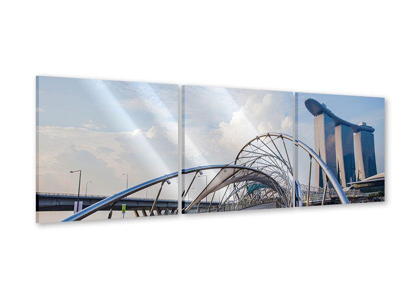 Panorama Acrylglasbild 3-teilig Helix-Brücke