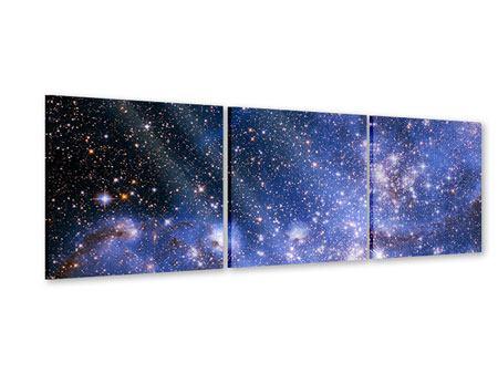Panorama Acrylglasbild 3-teilig Sternenhimmel