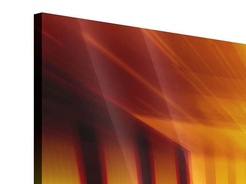 Panorama Acrylglasbild 3-teilig Abstrakter Goldener Raum